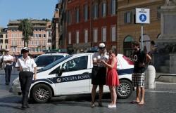 Piazza di Spagna pedestrianized in Rome