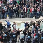 Rampaging Dutch soccer fans