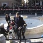 Mayor at the fountain