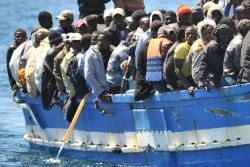 immigrants(black)inboat